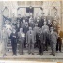 Fotografía antigua: FOTOGRAFIA DE GRUPO FRENTE AL GRAN CAFÉ RESTAURANTE TIBIDABO. BARCELONA. 1ª DECADA SIGLO XX.. Lote 160869910