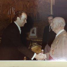 Fotografía antigua: FOTOS PROFESIONALES DE FRANCO CAUDILLO EN ALTOS HORNOS DEL MEDITERRANEO 1972. Lote 206844997