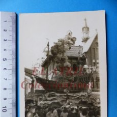 Fotografía antigua: VALENCIA - FALLAS PLAZA DEL MERCADO - FOTOGRAFICA - AÑO 1949. Lote 162080750