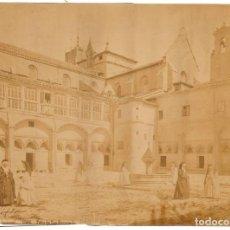 Fotografía antigua: FOTOGRAFÍA ALBÚMINA MONASTERIO DE LAS HUELGAS BURGOS. 33X25CM J.LAURENT. REEDICIÓN LACOSTE . Lote 162801386