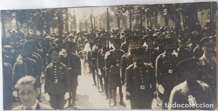 MURCIA 1928 GRUPO DE LA CRUZ ROJA EN LA MISA DE CAMPAÑA (Fotografía Antigua - Albúmina)