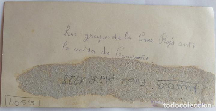 Fotografía antigua: MURCIA 1928 GRUPO DE LA CRUZ ROJA EN LA MISA DE CAMPAÑA - Foto 2 - 163972050