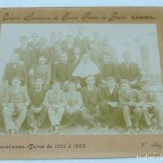 Fotografía antigua: FOTOGRAFIA ALBUMINA DEL COLEGIO ACADEMIA DE SANTA TERESA DE JESUS, CABRA, CORDOBA, CURSO 1901 / 1902. Lote 164652274