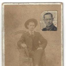 Fotografía antigua: FOTOGRAFÍA SEÑOR. CENTRO FOTOGRÁFICO VILLAR. MURCIA- SIGLO XIX. Lote 165215890