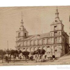 Fotografía antigua: TOLEDO. EL AYUNTAMIENTO. FOTÓGRAFO J. LACOSTE.(SUCESOR DE LAURENT). MADRID. 22,5 X 17,5 CM. Lote 165262274