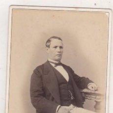Fotografía antigua: ALBÚMINA 1872, PERSONAJE ?? FOTÓGRAFO COHNER , HABANA CUBA. Lote 165412254