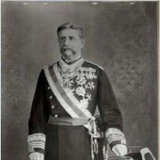 Fotografía antigua: GENERAL DE BRIGADA MIGUEL GUZMÁN CUMPLIDO. GUARDIA CIVIL. FOTOGRAFÍA PINTADA. VERONÉS. 31X40. Lote 165504706