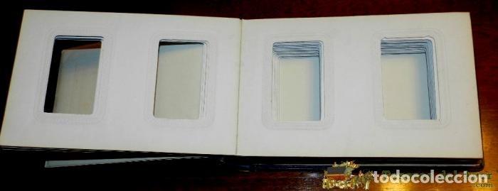 Fotografía antigua: ANTIGUO ALBUM DE FOTOGRAFIAS PARA CDV ALBUMINAS DE TAMAÑO CADA UNA 10 X 6 CMS., TIENE PARA ALBERGAR - Foto 3 - 38283040
