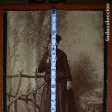 Fotografía antigua: FOTO ALBUMINA-MUJER CON TRAJE REGIONAL O BODA-LUCIENDO GRAN COLLARADA. Lote 165670258