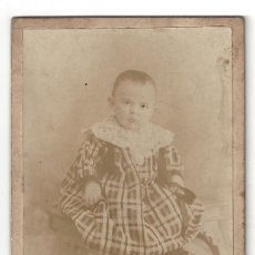 Fotografía antigua: FOTOGRAFÍA NIÑO. FOTÓGRAFO R. AYALA. CARTAGENA. MURCIA- (SIGLO XIX). Lote 165784270
