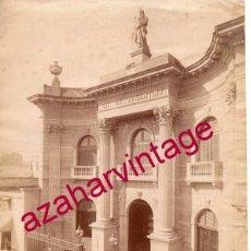 Fotografía antigua: BUENOS AIRES, SIGLO XIX, EDIFICIO DE LA LOGIA MASONICA, 150X205MM. Lote 166035110