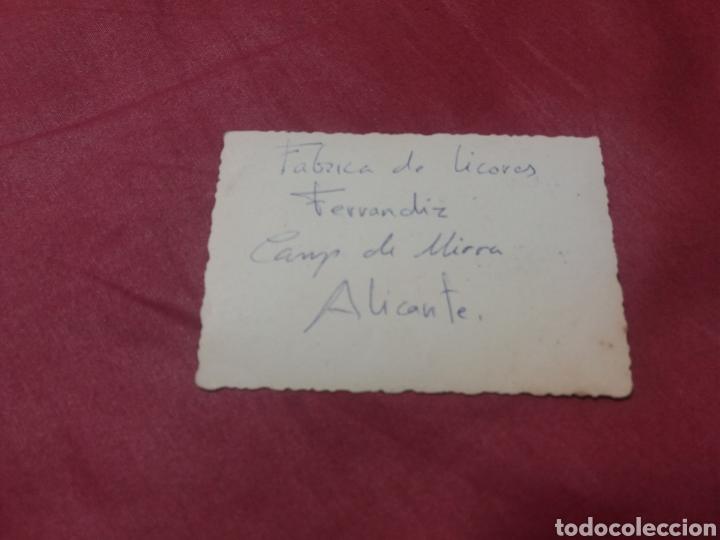 Fotografía antigua: Foto antigua fábrica de licores Ferrandiz Camp de Mirra Alicante - Foto 2 - 166476314