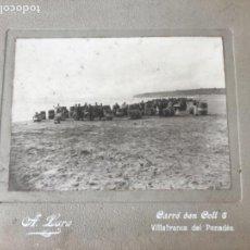 Fotografía antigua: IMPORTANTE ALBUMINA TRANSPORTE BOTAS . VILANOVA Y LA GELTRÚ. FOTÓGRAFO ADOLFO LARA 1880'S.. Lote 166981296