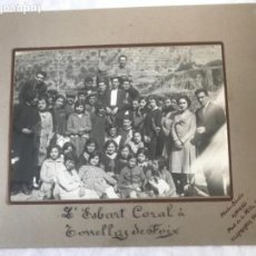 Fotografía antigua: ALBUMINA - L'ESBART CORAL A TORRELLES DE FOIX - ALMIRALL VILAFRANCA DEL PENEDES 1900'S.. Lote 167658608