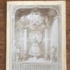 Fotografía antigua: ALBUMINA DE NUESTRA SEÑORA DEL PILAR. . Lote 167708084