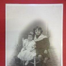 Fotografía antigua: ANTIGUA ALBÚMINA SOBRE CARTÓN. ZALDUA FOTÓGRAFO. BARRENCALLE 16. BILBAO. 25 X 17 CTMS.. Lote 167826064