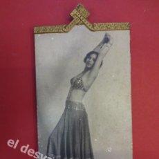 Fotografía antigua: PRECIOSO MARCO 17 X 8 CTMS. ART DECO CON FOTO DE BAILARINA. MUY DECORATIVO. Lote 168083644