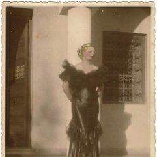 Fotografía antigua: FOTOGRAFÍA ARISTOCRACIA FRANCESA EN CASABLANCA. RETOCADA EN COLORES. 1º ENERO 1935. CASABLANCA.. Lote 169184724