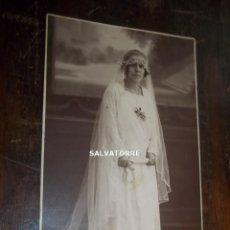 Fotografía antigua: FOTOGRAFIA DE ESTUDIO. JOVEN CANARIA.TENERIFE. DEDICADA.1924. Lote 169301196