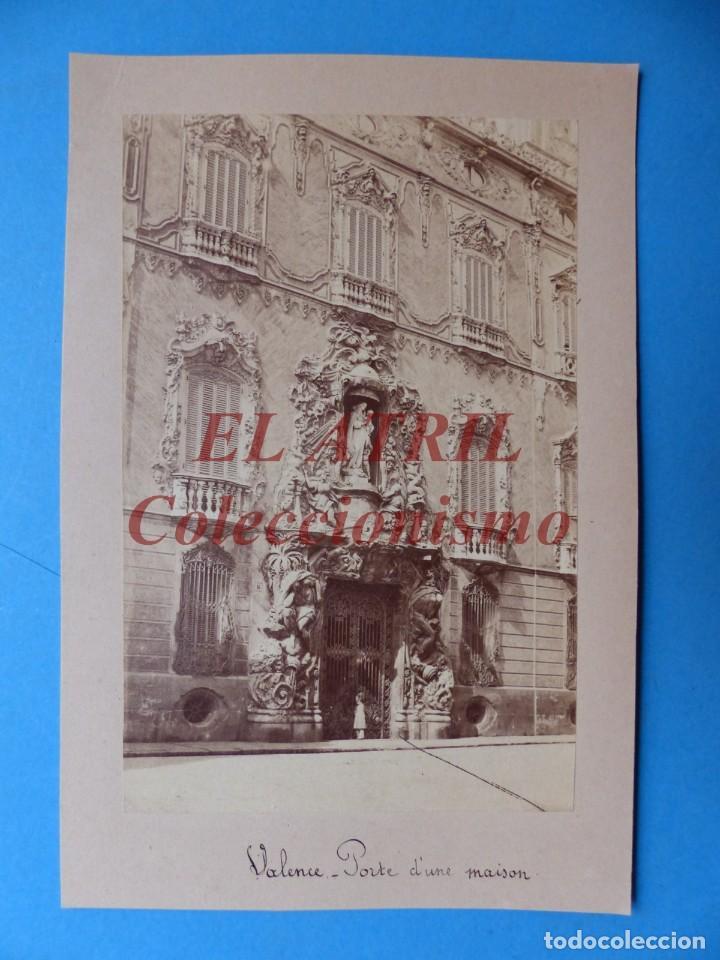 VALENCIA, PALACIO MARQUES DE DOS AGUAS - ANTIGUA ALBUMINA SOBRE CARTON - 1910-20 (Fotografía Antigua - Albúmina)