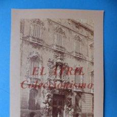 Fotografía antigua: VALENCIA, PALACIO MARQUES DE DOS AGUAS - ANTIGUA ALBUMINA SOBRE CARTON - 1910-20. Lote 170008552