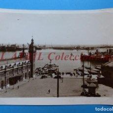 Fotografía antigua: VALENCIA, VISTA DEL PUERTO - AÑOS 1930-40. Lote 170010020