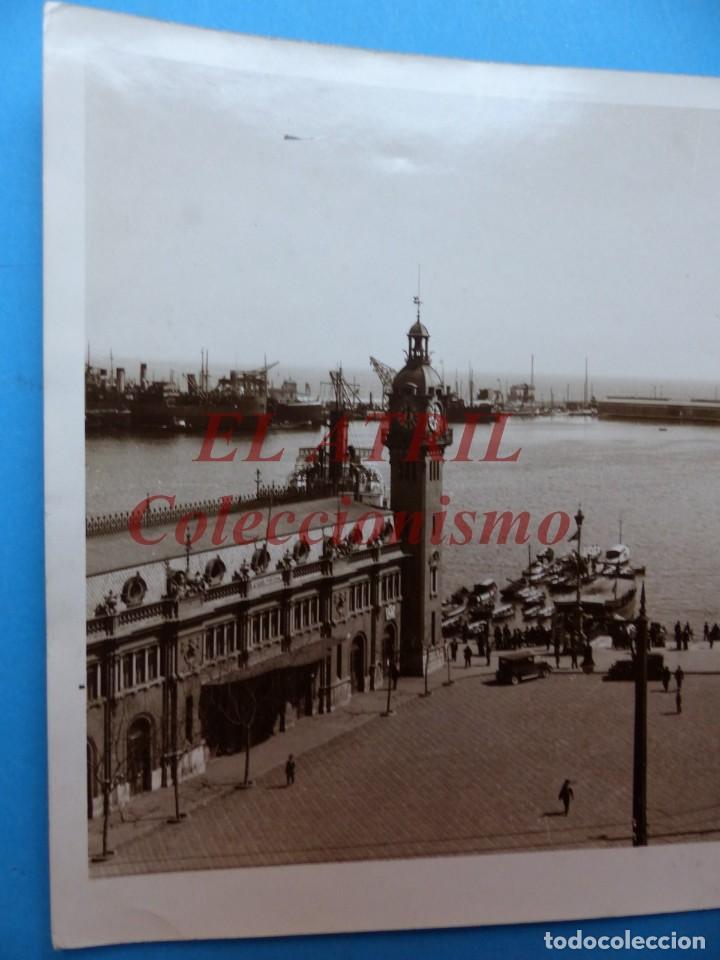 Fotografía antigua: VALENCIA, VISTA DEL PUERTO - AÑOS 1930-40 - Foto 2 - 170010020