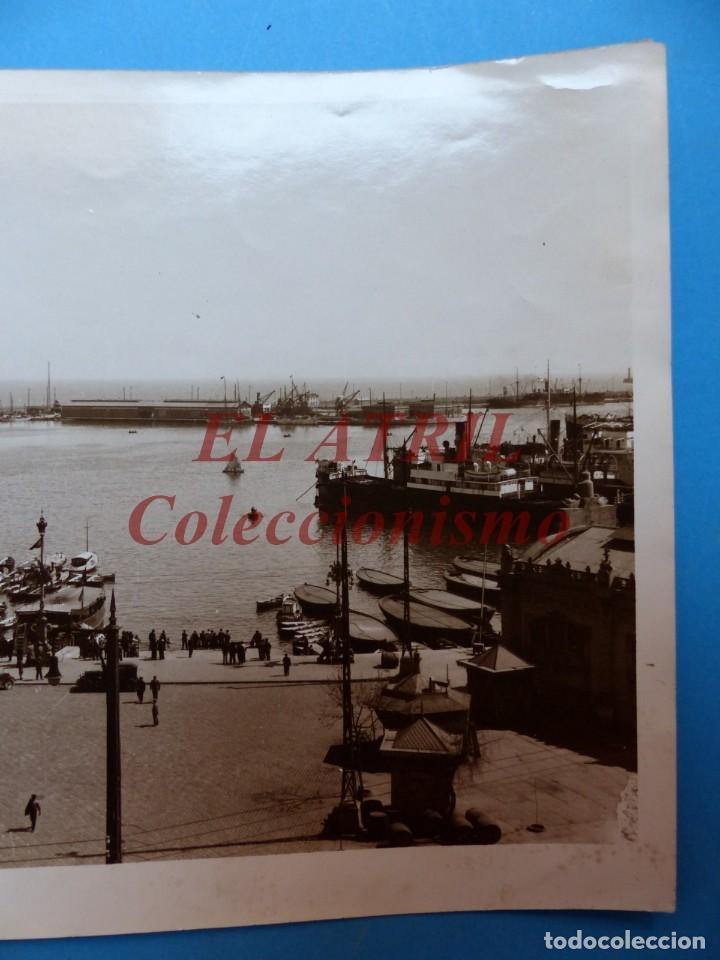 Fotografía antigua: VALENCIA, VISTA DEL PUERTO - AÑOS 1930-40 - Foto 3 - 170010020