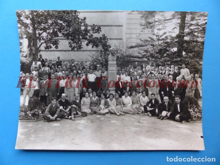 VALENCIA, PERSONAL DE LA LITOGRAFIA SIMEON DURA - AÑOS 1930-40 (Fotografía Antigua - Albúmina)