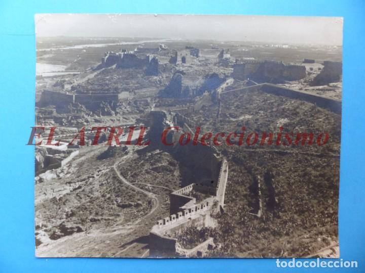 SAGUNTO, VALENCIA, VISTA DEL CASTILLO - AÑOS 1930-40 (Fotografía Antigua - Albúmina)