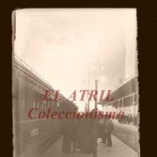 Fotografía antigua: VISTA ESTACION FERROCARRIL - CLICHE ORIGINAL - NEGATIVO EN CRISTAL - AÑOS 1910-1920. Lote 170174712