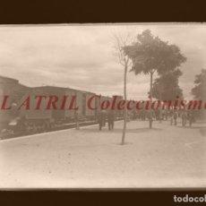 Fotografía antigua: VISTA ESTACION FERROCARRIL - CLICHE ORIGINAL - NEGATIVO EN CRISTAL - AÑOS 1910-1920. Lote 170174840