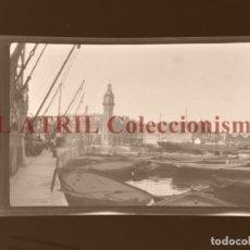 Fotografía antigua: VALENCIA, VISTA DEL PUERTO - CLICHE ORIGINAL NEGATIVO EN CELULOIDE - AÑOS 1920-30. Lote 170198392