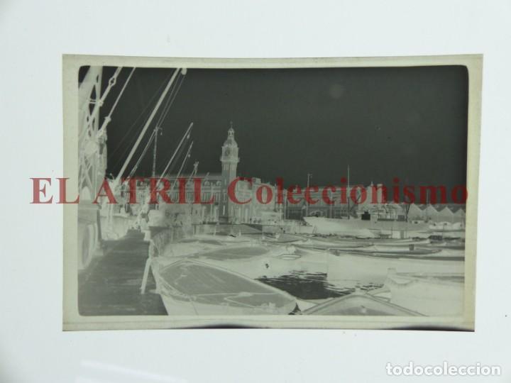 Fotografía antigua: VALENCIA, VISTA DEL PUERTO - CLICHE ORIGINAL NEGATIVO EN CELULOIDE - AÑOS 1920-30 - Foto 2 - 170198392