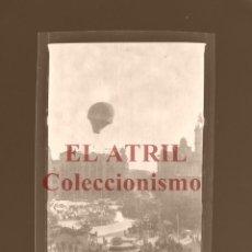 Fotografía antigua: VALENCIA, GLOBO AEROSTATICO - CLICHE ORIGINAL NEGATIVO EN CELULOIDE - AÑOS 1920-30. Lote 170198816