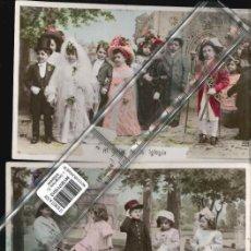Fotografía antigua: ESCENAS NIÑOS JUGANDO TRES POSTALES 1905. Lote 170329996