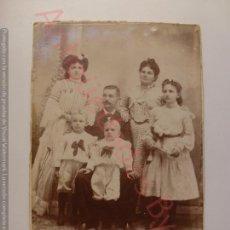 Fotografía antigua: FOTOGRAFÍA ANTIGUA ORIGINAL. FAMILIA. (14 X 10 CM). Lote 170931610