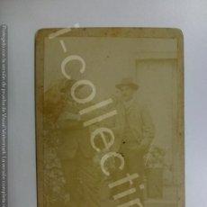 Fotografía antigua: FOTOGRAFÍA ANTIGUA. SOBRE CARTÓN. CABALLEROS. (12,5 CM X 8 CM).. Lote 171083328