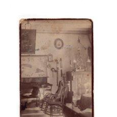 Fotografia antica: FOTO CABINET.- ESTUDIO FOTOGRÁFICO. DESCONOCIDO. CASA CON MOTIVOS MARINA.. Lote 171111447