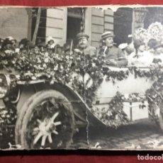 Fotografía antigua: ORIGINAL ANTIGUO FOTOGRAFÍA EN CARTÓN COCHE FESTEJO. Lote 171166014