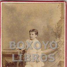 Fotografía antigua: FOTOGRAFÍA DE ESTUDIO DE UNA NIÑA. J. A. SUÁREZ Y CIA. HABANA (CUBA). Lote 171378674