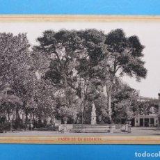 Fotografía antigua: VALENCIA - PASEO DE LA GLORIETA - AÑOS 1880-1890, FOTOGRAFO ANTONIO GARCIA. Lote 171404534