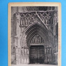 Fotografía antigua: VALENCIA - CATEDRAL PUERTA DE LOS APOSTOLES - AÑOS 1880-1890, FOTOGRAFO ANTONIO GARCIA. Lote 171405209