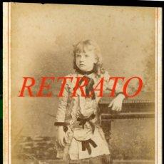 Fotografía antigua: HABANA - FOTOGRAFÍA FREDRICKS DARIES - 1880'S - RETRATO NIÑA . Lote 171443108