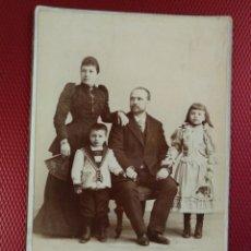 Fotografía antigua: FOTOGRAFÍA GRUPO FAMILIAR ALTA SOCIEDAD. M. VERDU FOTÓGRAFO MADRID FOTOGRAFÍA NORTE AMERICANA.. Lote 171526058