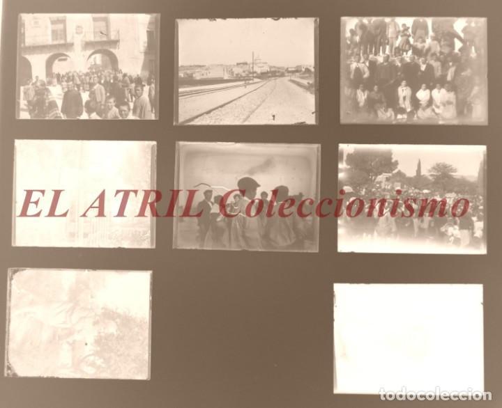 ALCOY, ALICANTE, MOROS Y CRISTIANOS - 11 PLACAS NEGATIVOS EN CRISTAL Y EN CELULOIDE - AÑOS 1920-30 (Fotografía Antigua - Albúmina)