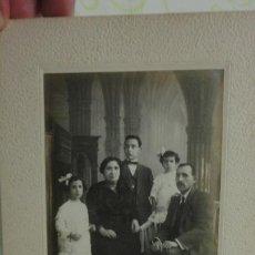 Fotografía antigua: ANTIGUA FOTOGRAFIA FAMILIAR.FOTO MATIAS RIUS.YGUALADA.AÑOS 20.. Lote 171772999