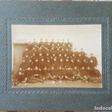Fotografía antigua: ZARAGOZA GRUPO DE MILITARES ARTILLERIA GRACIA FOTOGRAFO HACIA 1900. Lote 172091503