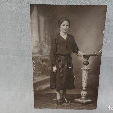 Fotografía antigua: ANTIGUA FOTOGRAFÍA RETRATÓ MUJER DE ÉPOCA . Lote 172241799