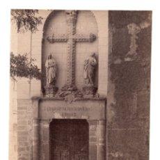 Fotografía antigua: TOLEDO. PUERTA DEL MUSEO. FOTÓGRAFO GARZÓN. GRANADA. 20,5 X 16 CM . Lote 172504802